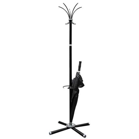 Вешалка напольная Классик-ТМ3 на 5 персон с держателем для зонтов черная