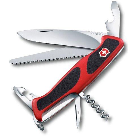 Нож перочинный Victorinox RangerGrip 55 (0.9563.C) 130мм 12функций красный/черный