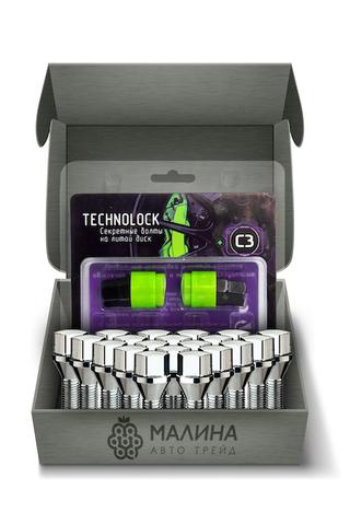 Готовый набор из колёсных болтов М14x1.5 и комплекта секреткок TECHNOLOCK C3