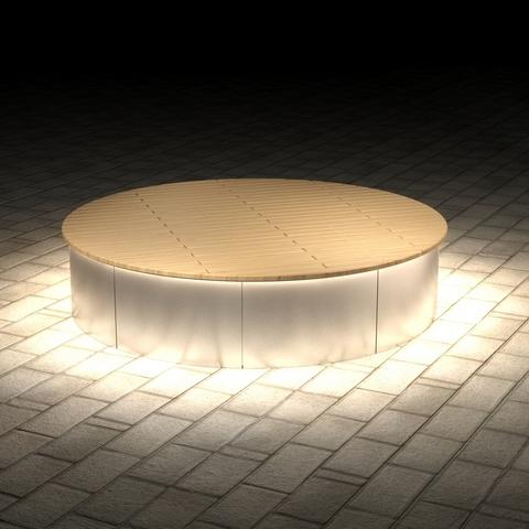 МАФ ПАБЛИК круглый с подсветкой