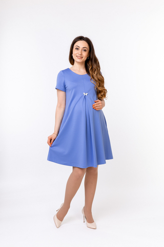 Платье для беременных 10369 синий