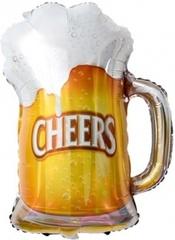 Шар (13''/33 см) Мини-фигура, Пиво в кружке / 5шт./