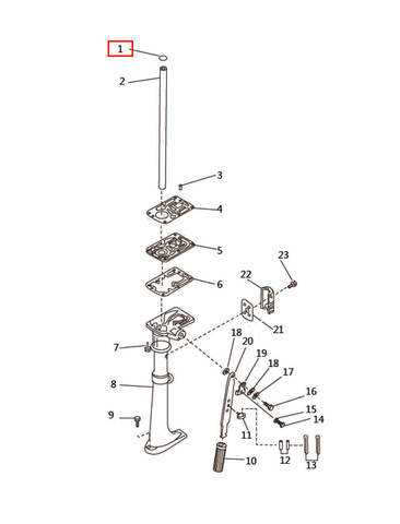 Улотнительное кольцо  для лодочного мотора T2,5 SEA-PRO (7-1)