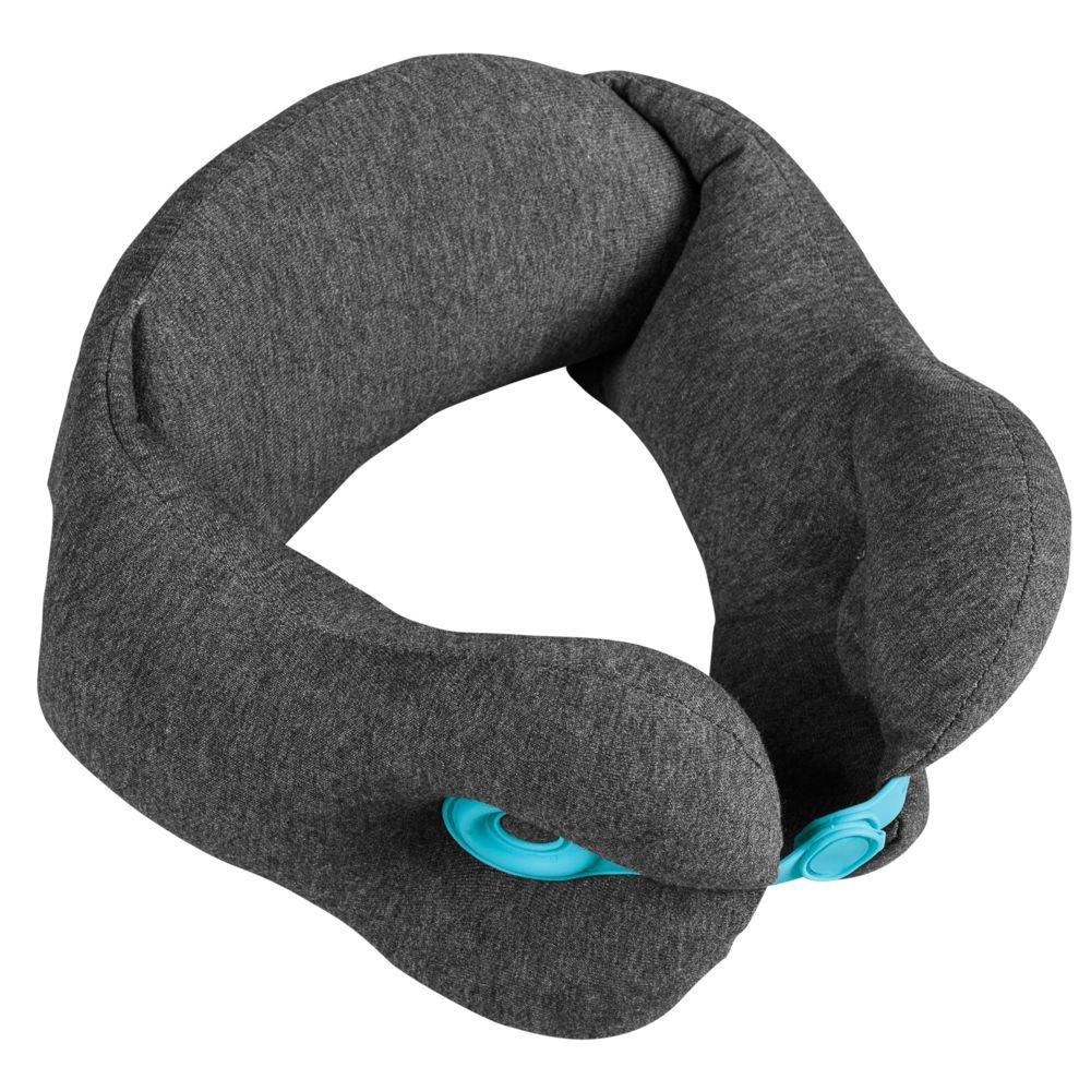 Norwick Travel Pillow, grey with blue