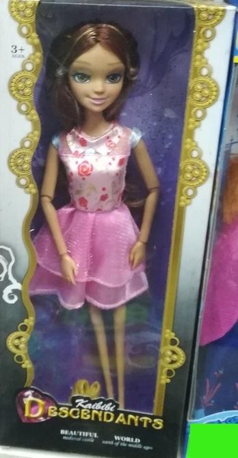 Кукла в розовом платье. Высота 22 СМ