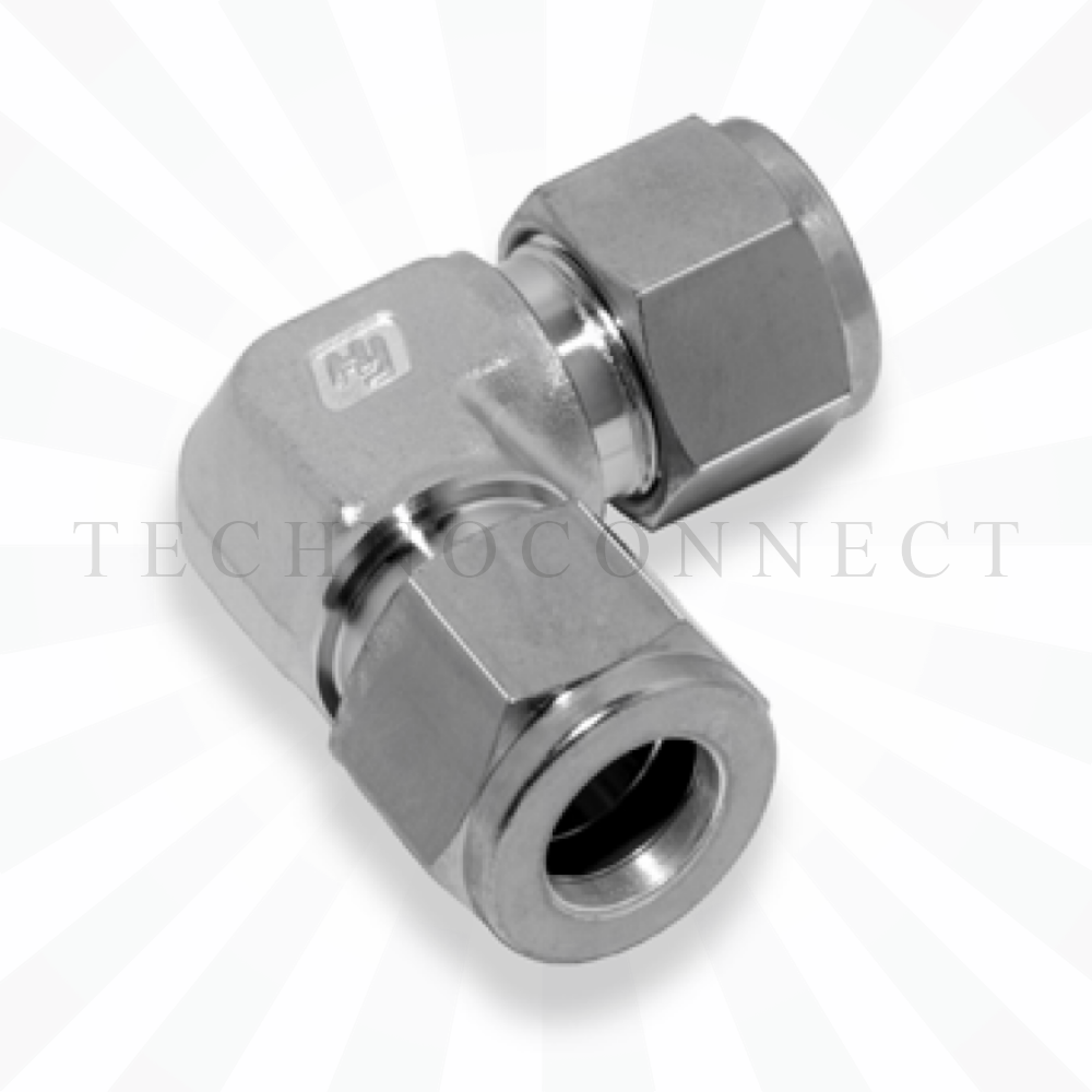 CLA-12M  Соединитель угловой: метрическая трубка  12 мм - метрическая трубка   12 мм
