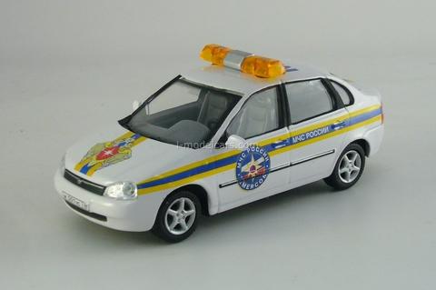 VAZ-2118 Lada Kalina MChS and Chevrolet-Niva Fire Department Cararama 1:43