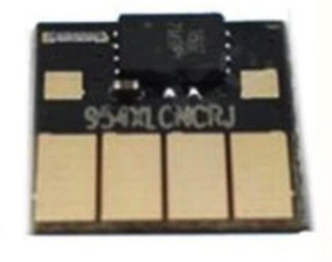 Чип HP 953, 957, L0S58AE, L0S70AE, L0R40AE автообнуляемый, чёрный