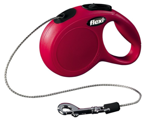 Flexi поводок-рулетка XS, трос 3м на 8 кг (красный)