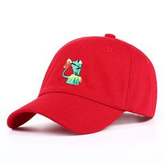 Кепка с лягушкой красная (Бейсболка с лягушкой красная)