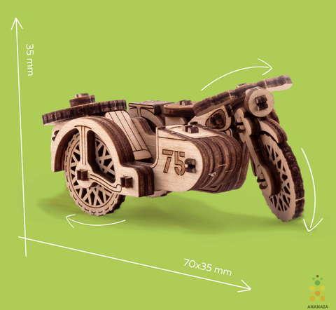 Мотоцикл М-72 (UNIWOOD) - Деревянный конструктор, 3D пазл, сборная модель