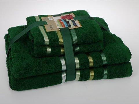 Комплект махровых полотенец КАРНА, темно - зеленый