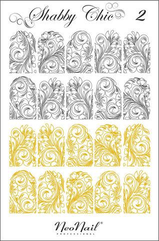 Трафарет для дизайна Shabby Chic 02 белый