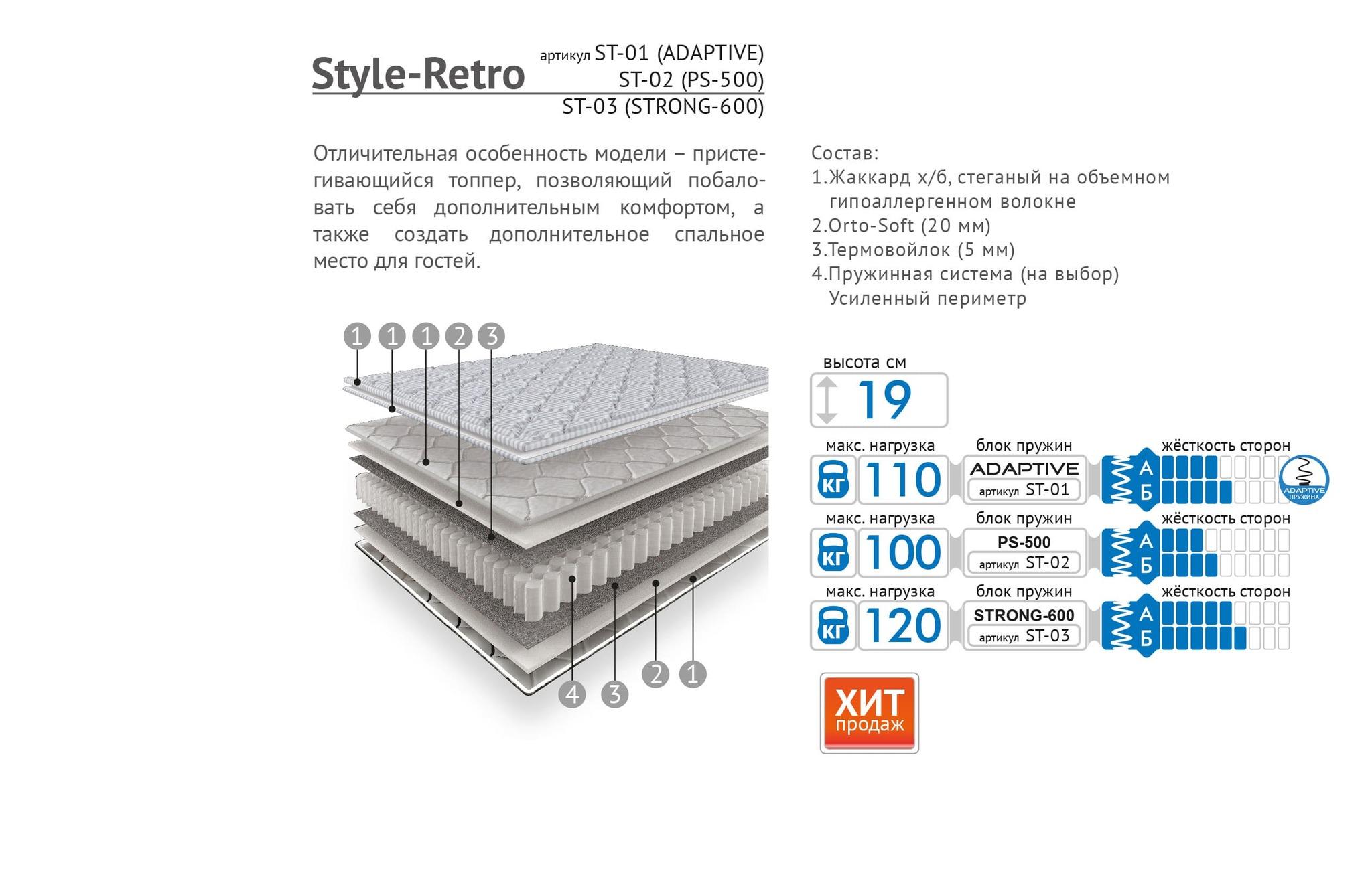 Матрас Style-Retro