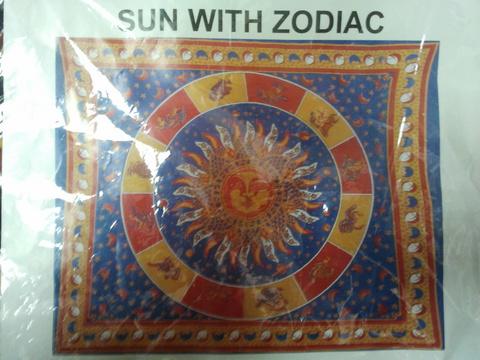 Покрывало Солнце в кругу знаков зодиака