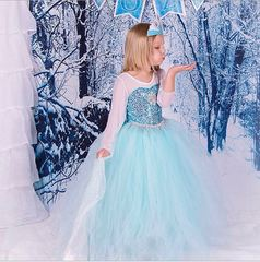 Карнавальное платье Эльзы с пышной юбкой