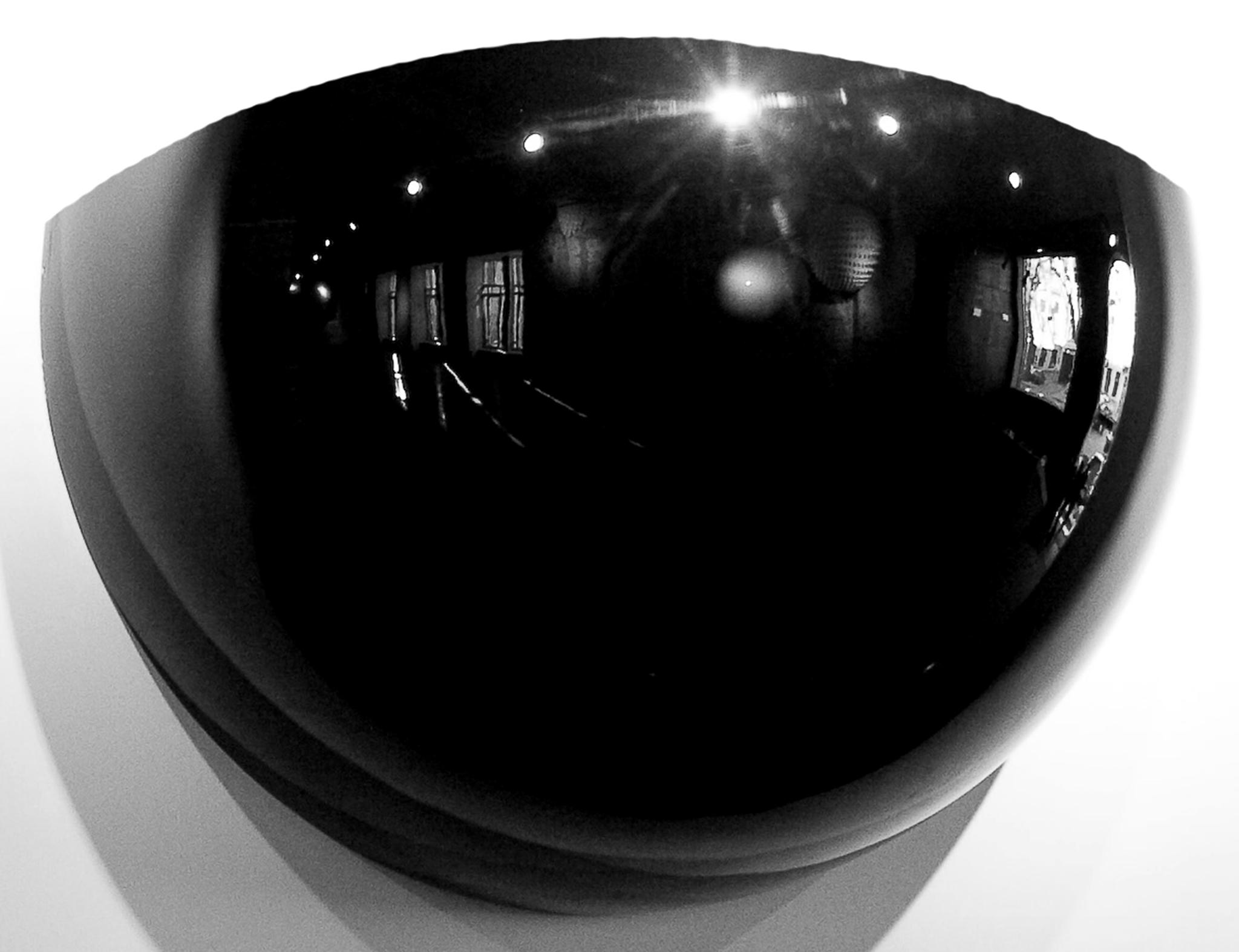 Truncated (at 30 cm) sphere, black, mat