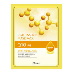Juno Real Essence Mask Pack Q10 - Маска тканевая с коэнзимом q10