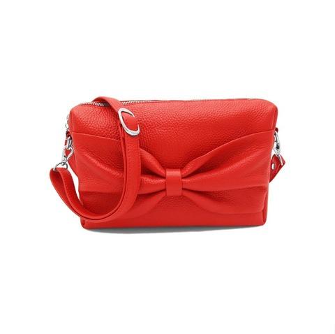 Кэнди-сумочка на пояс с 2 ремнями алая