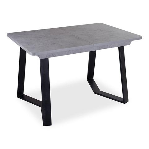 Стол Джаз ПР-1 СБ/СБ 92-1 ЧР / Серый бетон / ножка металл / 120(157)х80 см