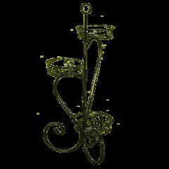 Подставка для цветов «КРОКУС 3» (черный)