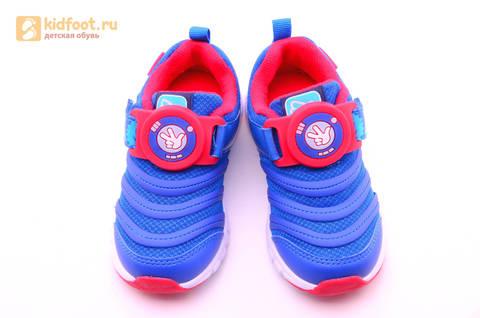 Светящиеся кроссовки для мальчиков Фиксики на липучках, цвет Синий, мигает пряжка на липучке, 5916D. Изображение 14 из 18.