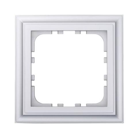 Рамка на 1 пост. Цвет Серебристый металлик. LK Studio CLASSIC (ЛК Студио Классик). 894103