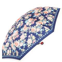 Красивый женский синий зонт с розово-голубыми цветками, Арт Райн
