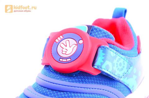 Светящиеся кроссовки для мальчиков Фиксики на липучках, цвет Синий, мигает пряжка на липучке, 5916D. Изображение 15 из 18.