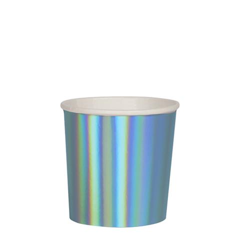 Стаканы синие фольгированные