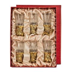 Набор из 6 стопок перевертышей со стеклянными чарками