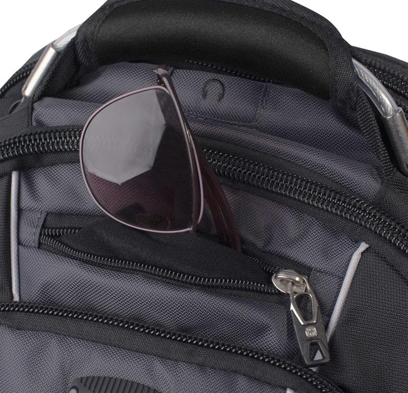 Рюкзак WENGER ScanSmart, цвет чёрный/серый, отделение для ноутбука 15