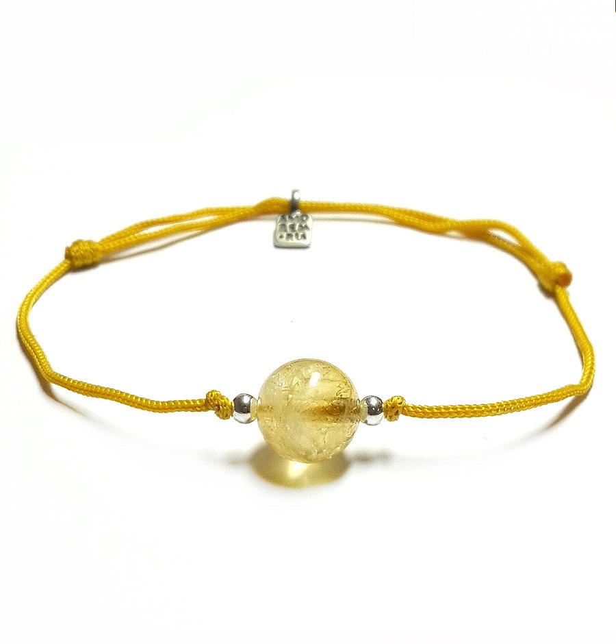 Manipura bracelet, for 3rd chakra, citrine