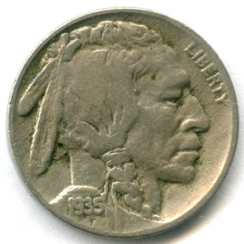 5 центов 1935. США (Индеец) М-н F-VF