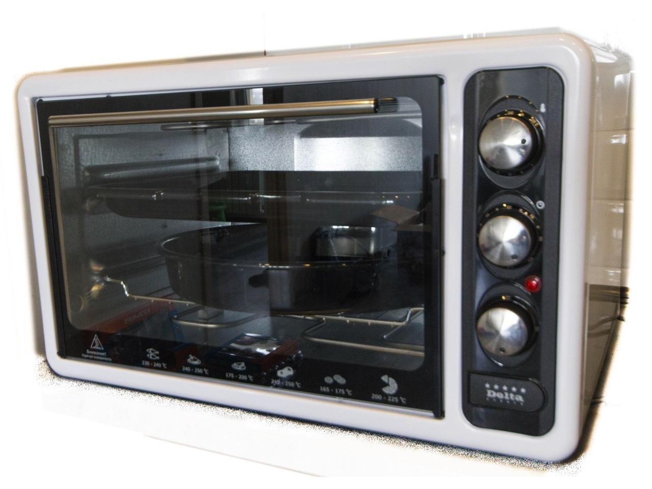 Духовка электрическая 40л DELTA D-023A с ТЭНом повышенной мощности