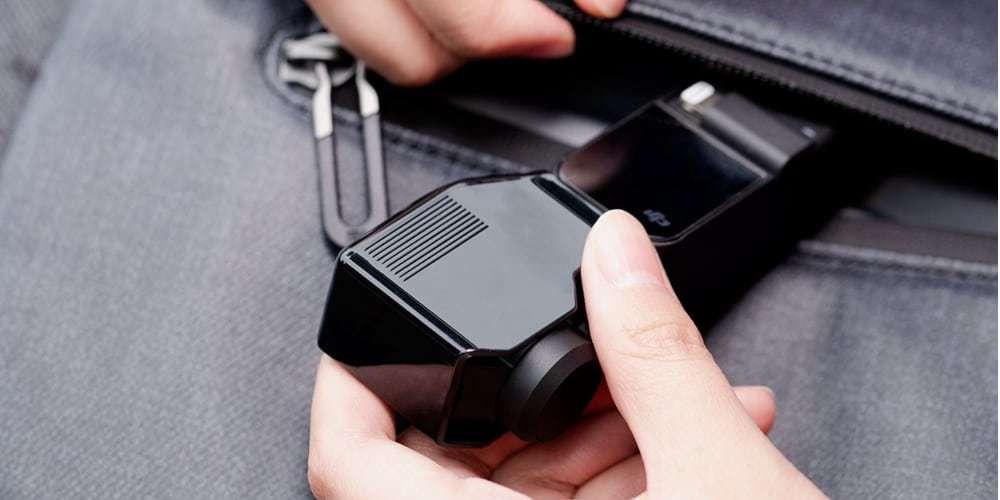 Защита подвеса PgyTech Gimbal Protector for OSMO Pocket P-18C-026 в руках