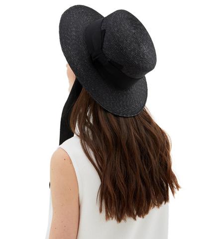 Шляпа-канотье в черном цвете