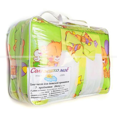 Комплект для детской кроватки 7 предметов(бязь) М12-ОФС121(50)