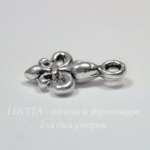 """Подвеска """"Fleur-De-Lys"""" 16х10 мм (цвет - античное серебро)"""