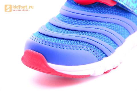 Светящиеся кроссовки для мальчиков Фиксики на липучках, цвет Синий, мигает пряжка на липучке, 5916D. Изображение 18 из 18.