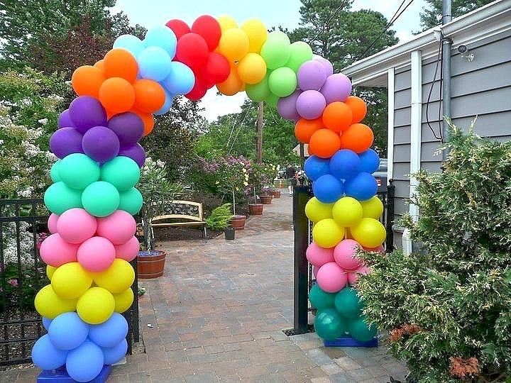 """Арки из воздушных шаров Арка из воздушных шаров """"Радуга"""" 683382529.jpg"""