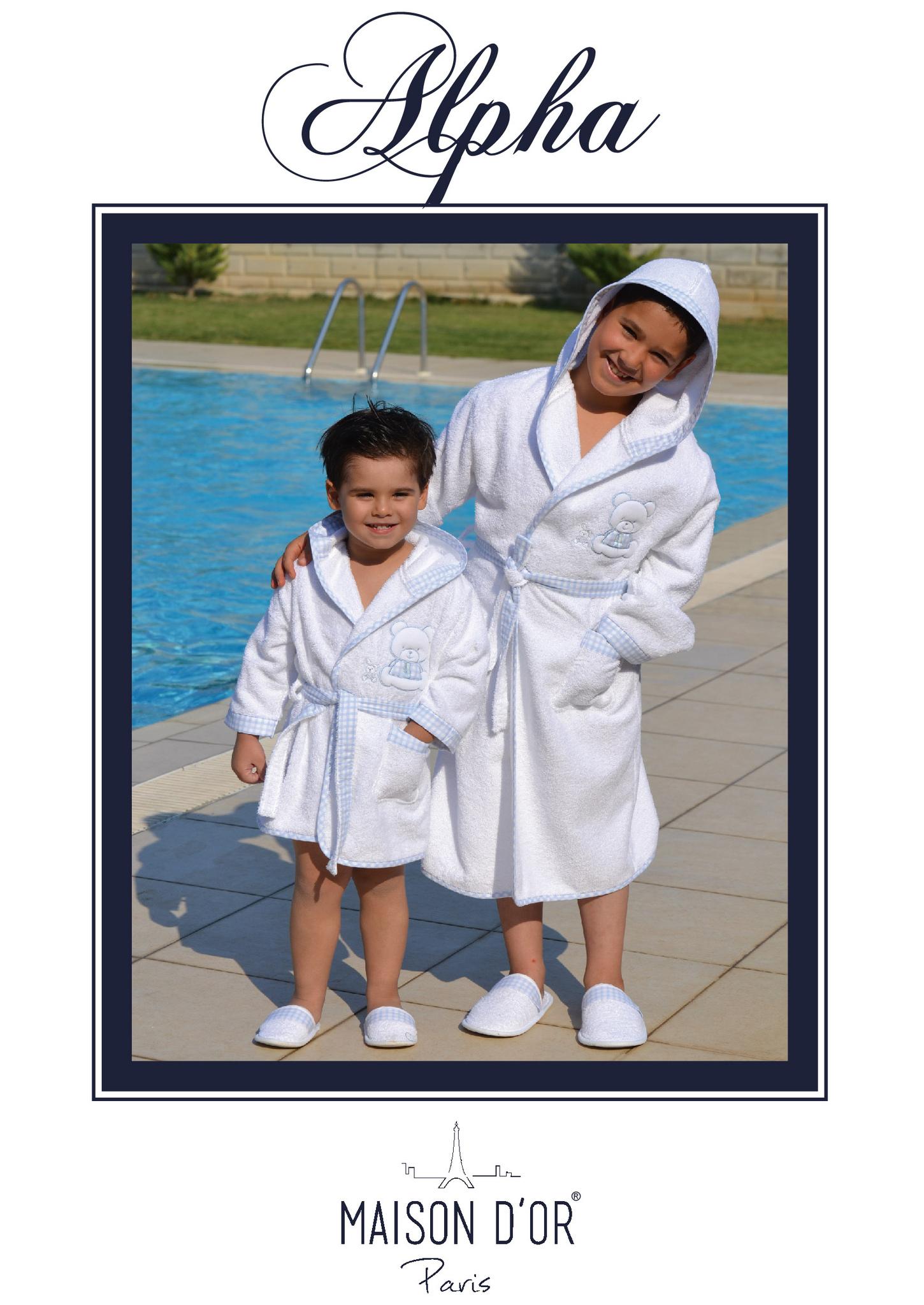 Халаты НАБОР Халат детский с тапочками  ALPHA  АЛЬФА  Maison Dor Турция Alpha_Cocuk.jpg