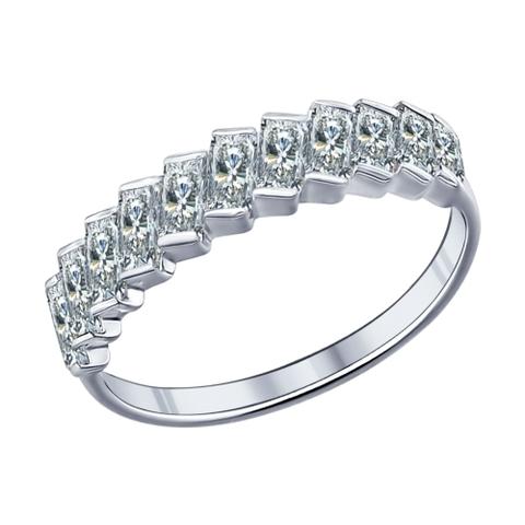 94011532 - Кольцо из серебра с багетными фианитами