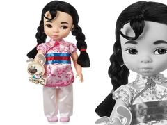 принцесса Диснея Мулан с питомцем в магии кукол