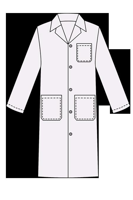 Выкройка мужского медицинского халата