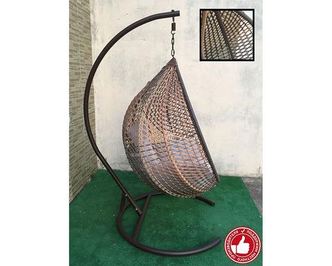 Плетеное кресло Арриба Cross бежево-коричневое