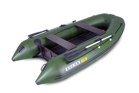 Надувная ПВХ-лодка Солар Оптима - 330 (зеленый)
