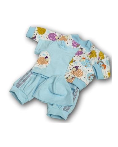 Костюм с курткой бомбером - Голубой. Одежда для кукол, пупсов и мягких игрушек.