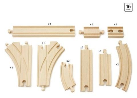 BRIO Базовый набор рельс, 16 деталей