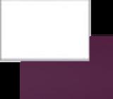 Фасад Белый глянец/Баклажан глянец 2 категория